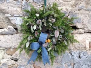 Standard with Premium Evergreen Wreath
